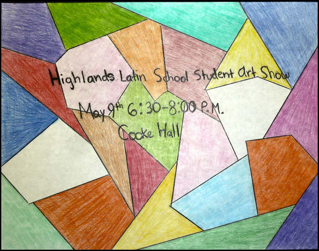 SM Art Show May 9th 6:30 PM Cooke Hall
